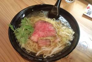 チャーギュウ麺の塩スープ