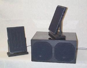 平面磁気スピーカーとパッシブサブウーファーの2.1ch