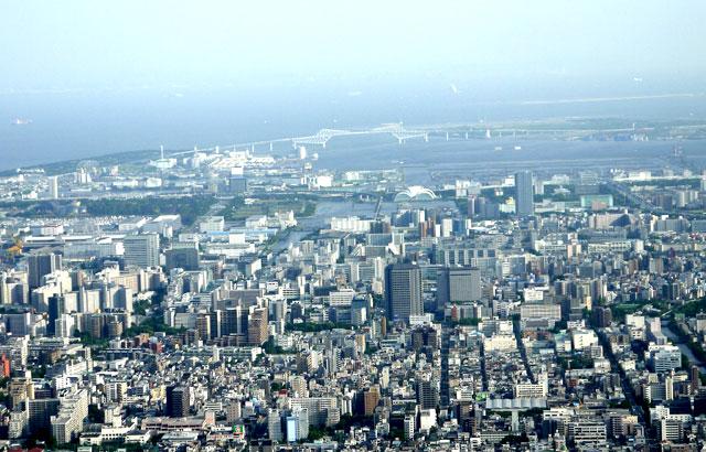 東京スカイツリーからの景色