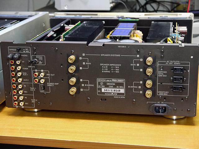 PMA-2000Ⅳの背面